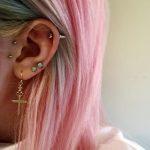 фото Трагус-пирсинг от 19.09.2017 №078 - Tragus Piercing - tatufoto.com