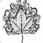 фото Эскизы тату клен от 29.09.2017 №002 - Sketches of tattoo maple - tatufoto.com