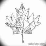 фото Эскизы тату клен от 29.09.2017 №012 - Sketches of tattoo maple - tatufoto.com