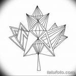 фото Эскизы тату клен от 29.09.2017 №013 - Sketches of tattoo maple - tatufoto.com
