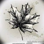 фото Эскизы тату клен от 29.09.2017 №014 - Sketches of tattoo maple - tatufoto.com