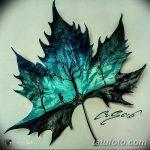 фото Эскизы тату клен от 29.09.2017 №015 - Sketches of tattoo maple - tatufoto.com