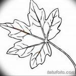 фото Эскизы тату клен от 29.09.2017 №017 - Sketches of tattoo maple - tatufoto.com