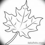 фото Эскизы тату клен от 29.09.2017 №019 - Sketches of tattoo maple - tatufoto.com