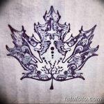 фото Эскизы тату клен от 29.09.2017 №020 - Sketches of tattoo maple - tatufoto.com