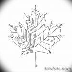 фото Эскизы тату клен от 29.09.2017 №026 - Sketches of tattoo maple - tatufoto.com