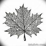 фото Эскизы тату клен от 29.09.2017 №035 - Sketches of tattoo maple - tatufoto.com