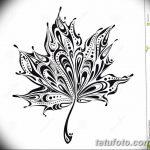 фото Эскизы тату клен от 29.09.2017 №037 - Sketches of tattoo maple - tatufoto.com