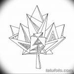 фото Эскизы тату клен от 29.09.2017 №039 - Sketches of tattoo maple - tatufoto.com