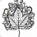 фото Эскизы тату клен от 29.09.2017 №050 - Sketches of tattoo maple - tatufoto.com
