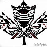 фото Эскизы тату клен от 29.09.2017 №069 - Sketches of tattoo maple - tatufoto.com