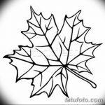 фото Эскизы тату клен от 29.09.2017 №081 - Sketches of tattoo maple - tatufoto.com