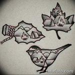 фото Эскизы тату клен от 29.09.2017 №084 - Sketches of tattoo maple - tatufoto.com
