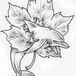 фото Эскизы тату клен от 29.09.2017 №087 - Sketches of tattoo maple - tatufoto.com