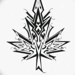 фото Эскизы тату клен от 29.09.2017 №094 - Sketches of tattoo maple - tatufoto.com