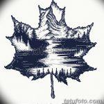 фото Эскизы тату клен от 29.09.2017 №095 - Sketches of tattoo maple - tatufoto.com