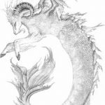фото Эскизы тату козерог от 29.09.2017 №002 - Sketchesf a capricorn tattoo - tatufoto.com