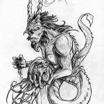 фото Эскизы тату козерог от 29.09.2017 №006 - Sketchesf a capricorn tattoo - tatufoto.com