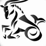 фото Эскизы тату козерог от 29.09.2017 №009 - Sketchesf a capricorn tattoo - tatufoto.com