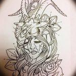 фото Эскизы тату козерог от 29.09.2017 №011 - Sketchesf a capricorn tattoo - tatufoto.com