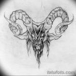фото Эскизы тату козерог от 29.09.2017 №013 - Sketchesf a capricorn tattoo - tatufoto.com
