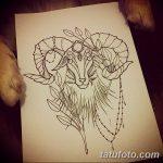 фото Эскизы тату козерог от 29.09.2017 №015 - Sketchesf a capricorn tattoo - tatufoto.com