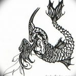 фото Эскизы тату козерог от 29.09.2017 №017 - Sketchesf a capricorn tattoo - tatufoto.com