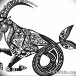 фото Эскизы тату козерог от 29.09.2017 №018 - Sketchesf a capricorn tattoo - tatufoto.com