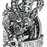 фото Эскизы тату козерог от 29.09.2017 №021 - Sketchesf a capricorn tattoo - tatufoto.com
