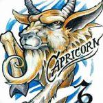фото Эскизы тату козерог от 29.09.2017 №022 - Sketchesf a capricorn tattoo - tatufoto.com