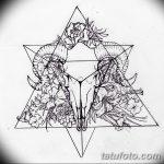 фото Эскизы тату козерог от 29.09.2017 №026 - Sketchesf a capricorn tattoo - tatufoto.com