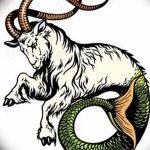 фото Эскизы тату козерог от 29.09.2017 №029 - Sketchesf a capricorn tattoo - tatufoto.com
