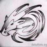 фото Эскизы тату козерог от 29.09.2017 №031 - Sketchesf a capricorn tattoo - tatufoto.com