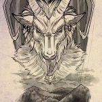 фото Эскизы тату козерог от 29.09.2017 №032 - Sketchesf a capricorn tattoo - tatufoto.com