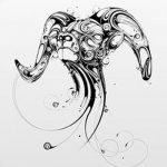 фото Эскизы тату козерог от 29.09.2017 №034 - Sketchesf a capricorn tattoo - tatufoto.com