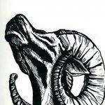 фото Эскизы тату козерог от 29.09.2017 №037 - Sketchesf a capricorn tattoo - tatufoto.com