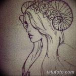 фото Эскизы тату козерог от 29.09.2017 №040 - Sketchesf a capricorn tattoo - tatufoto.com