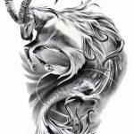 фото Эскизы тату козерог от 29.09.2017 №041 - Sketchesf a capricorn tattoo - tatufoto.com