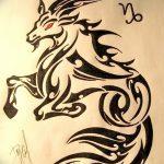 фото Эскизы тату козерог от 29.09.2017 №043 - Sketchesf a capricorn tattoo - tatufoto.com
