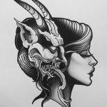 фото Эскизы тату козерог от 29.09.2017 №046 - Sketchesf a capricorn tattoo - tatufoto.com
