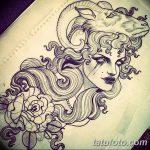 фото Эскизы тату козерог от 29.09.2017 №047 - Sketchesf a capricorn tattoo - tatufoto.com