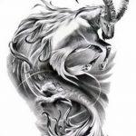 фото Эскизы тату козерог от 29.09.2017 №053 - Sketchesf a capricorn tattoo - tatufoto.com