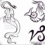 фото Эскизы тату козерог от 29.09.2017 №055 - Sketchesf a capricorn tattoo - tatufoto.com
