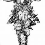 фото Эскизы тату козерог от 29.09.2017 №057 - Sketchesf a capricorn tattoo - tatufoto.com