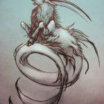 фото Эскизы тату козерог от 29.09.2017 №066 - Sketchesf a capricorn tattoo - tatufoto.com