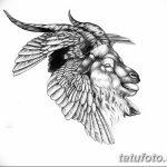 фото Эскизы тату козерог от 29.09.2017 №068 - Sketchesf a capricorn tattoo - tatufoto.com