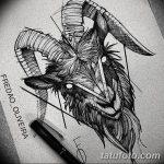 фото Эскизы тату козерог от 29.09.2017 №073 - Sketchesf a capricorn tattoo - tatufoto.com