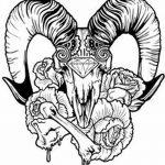 фото Эскизы тату козерог от 29.09.2017 №076 - Sketchesf a capricorn tattoo - tatufoto.com