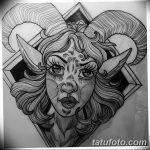 фото Эскизы тату козерог от 29.09.2017 №077 - Sketchesf a capricorn tattoo - tatufoto.com
