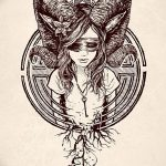 фото Эскизы тату козерог от 29.09.2017 №079 - Sketchesf a capricorn tattoo - tatufoto.com